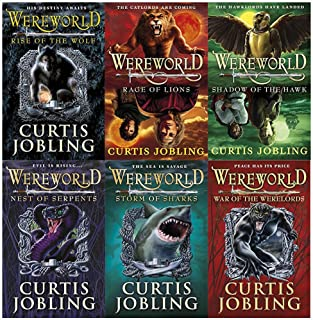 Wereworld Level 1 to 6 Curtis Jobling Collection 6 Books Set (Rise of the Wolf, Rage of Lions, Shadow of the Hawk, Nest of...