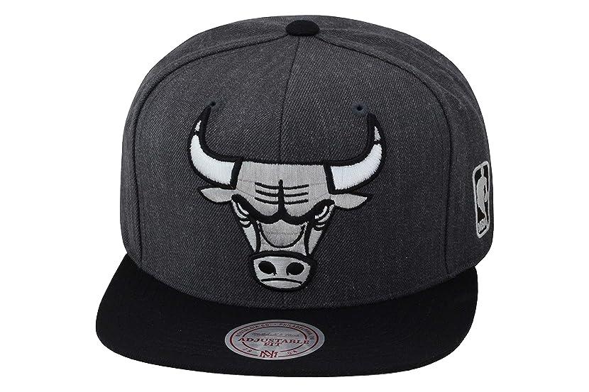 Mitchell & Ness Chicago Bulls Snapback Hat Cap Dark Grey Heather/Black