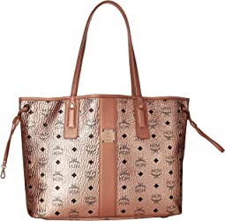 ba7f9e6201150 Luxury. Champagne Gold. 142. MCM. Reversible Liz Medium Shopper in Visetos