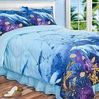 PDK Regency DOLPHIN'S Cove Comforter Set Queen Bedding, Multicolor