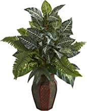 Nearly Natural 8169 Mixed Artificial Plant in Decorative Planter Silk, Green