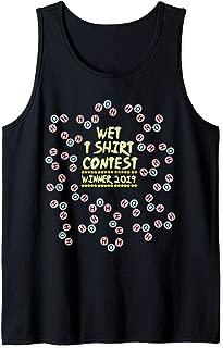 Mens Funny Wet T Shirt Contest Winner | Water Chemistry Joke Gift Tank Top
