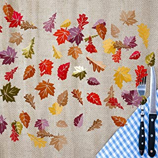 Autumn Leaf Confetti 150pcs Papermaple Leaves Table Decorations for Thanksgiving Party Decor Party Table Scatter Fall Wedding Decor Centerpiece