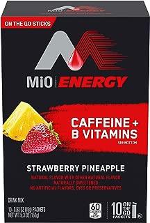MIO Energy On-The-Go Powdered Drink Mix, Strawberry Pineapple, 5.2 oz