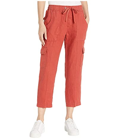 Sanctuary Discover Pull-On Linen Cargo Pants (Sedona) Women