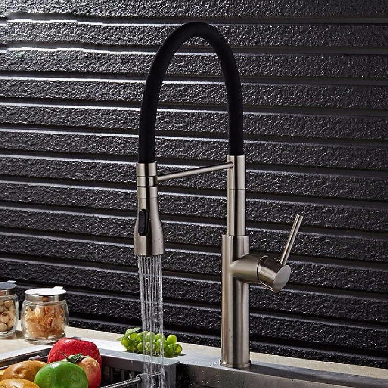 Bijjaladeva Wasserhahn Bad Wasserfall Mischbatterie Waschbecken Waschtisch Armatur für BadKreative gebürstet die Küche Kalt Wasserhahn Küche Waschbecken Wasser aus Dem Wasserhahn