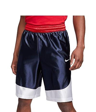 Nike Dry Durasheen Shorts (Midnight Navy/White/White) Men