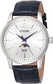 Citizen Mens Quartz Watch, Analog Display and Leather Strap - AK5000-03A