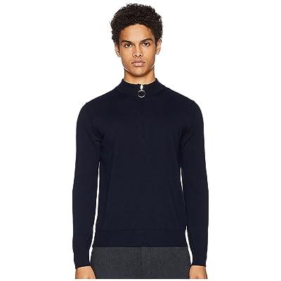eleventy Virgin Wool 1/4 Zip Sweater (Navy) Men