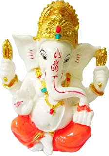 Sahishnu Online And Marketing Ganesha Idol Statue,Hindu God Good Luck Success, 5 Inches