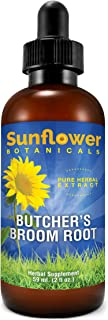 Sunflower Botanicals Butcher's Broom Extract, 2 oz. Glass Dropper-Top Bottle, Vegan, Non-GMO and All-Natural, Optimally Co...