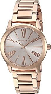 Michael Kors Hartman Watch For Women - Analog Stainless Steel Band - Mk3491, Rose Gold Band