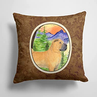 Caroline's Treasures SS8324PW1414 Shar Pei Decorative Canvas Fabric Pillow, 14Hx14W, Multicolor