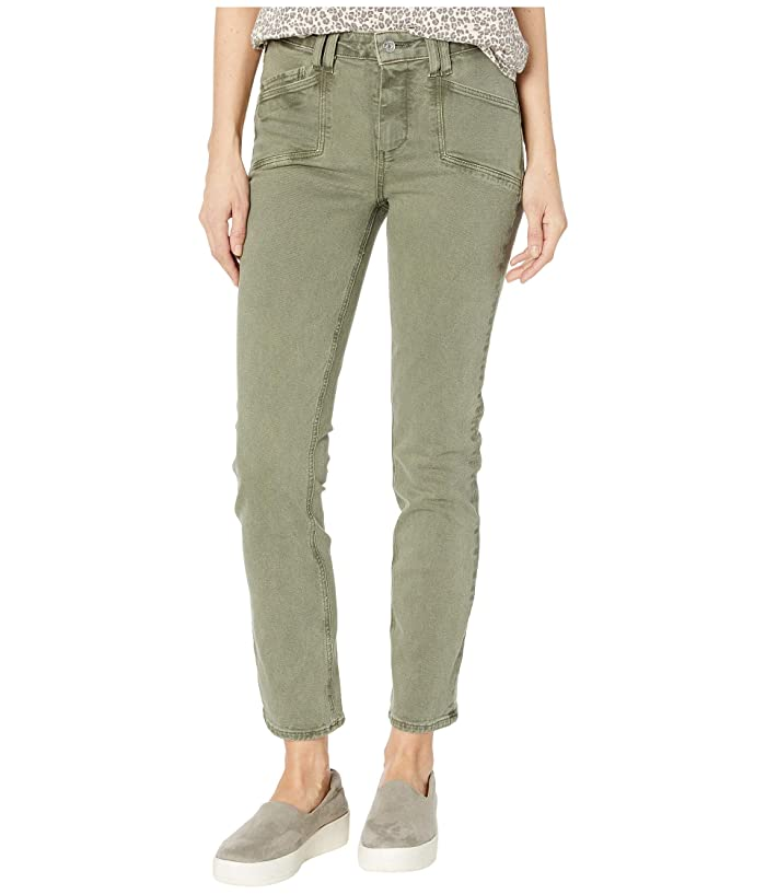 Paige  Cindy Jeans with Set in Pockets in Vintage Emerald Moss (Vintage Emerald Moss) Womens Jeans