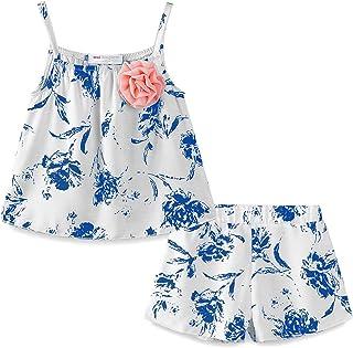 LittleSpring Little Girls' Shorts Set Summer Dot