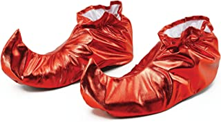 Bristol Novelty BA628 Jester Shoe Covers Red Metallic, One Size