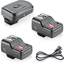 Neewer 16 Channel Wireless Remote FM Flash Speedlite Radio Trigger with 2.5mm PC Receiver for Flash Units with Universal H...