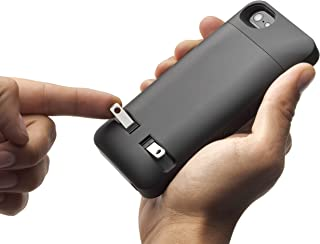 Prong PocketPlug Case - Protective Case with built-in A/C Charger for iPhone 5/5s - Black