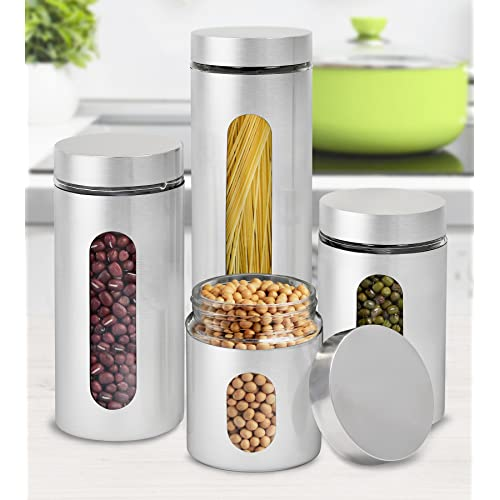 Silver Canister Sets for Kitchen: Amazon.com