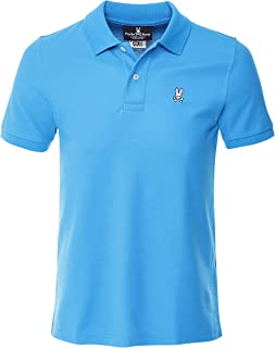 Psycho Bunny Men's Pima Cotton Classic Polo Shirt Blue