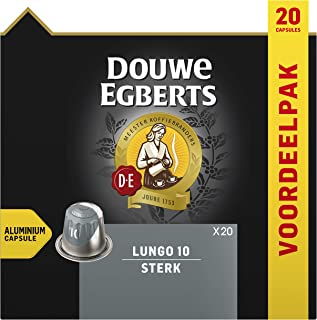 Douwe Egberts Koffiecups Lungo Sterk Voordeelverpakking (200 Koffie Capsules, Geschikt voor Nespresso* Koffiemachines, Int...