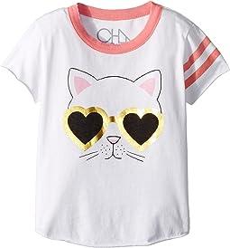 Chaser Kids - Vintage Jersey Cat Sunnies Tee (Toddler/Little Kids)
