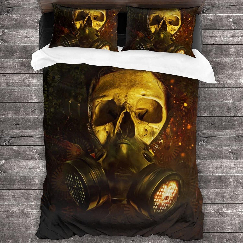 Olanustu Queen Same day shipping Comforter Set Steampunk Lightweight Ranking TOP20 Po Skull Soft