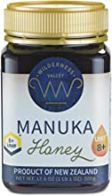 Wilderness Valley Manuka Honey New Zealand - Certified UMF 8+ (17.6oz) 100% Pure Natural Non-GMO Honey - Delicious Premium Superfood from Bees - Premium Manuka Honey for Natural Remedies & Healing