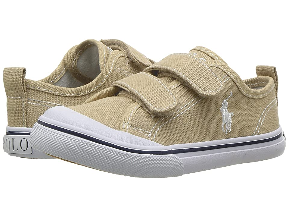 Polo Ralph Lauren Kids Karlen EZ (Toddler) (Khaki Canvas/White Pony Player) Kid