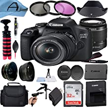 $524 » Canon EOS 2000D / Rebel T7 Digital DSLR Camera 24.1MP CMOS Sensor with 18-55mm Zoom Lens, SanDisk 32GB Memory Card, Bag, T...