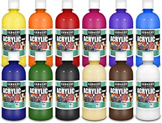 Sargent Art Acrylic Paint, Assorted 12 Count