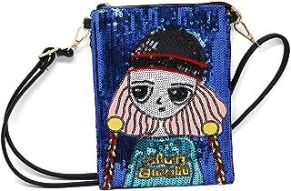 BoutiqueS Clutch Purse Sequin Evening Wristlet Shoulder Bag for Ladies