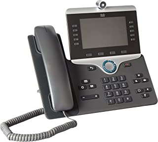 Cisco CP-8865-K9 Wi-Fi IP Video Phone (Power Supply Not Included)