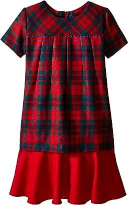 Holiday Plaid Wool Multi Layer Dress (Toddler/Little Kids/Big Kids)