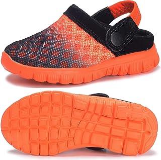 Zuecos Unisex Infantil Niños Niñas Clogs Verano Respirable Antideslizante Sandalia Piscina Jardín Zapatos 24-38