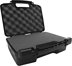 Casematix Travel Hard Case fits Rif6 Cube , UO Smart Beam Laser , AAXA S2 , Tenker Cube S6 , Philips PicoPix Max , LG Minibeam and Amaz-Play Mobile Pico Projector with Small Accessories
