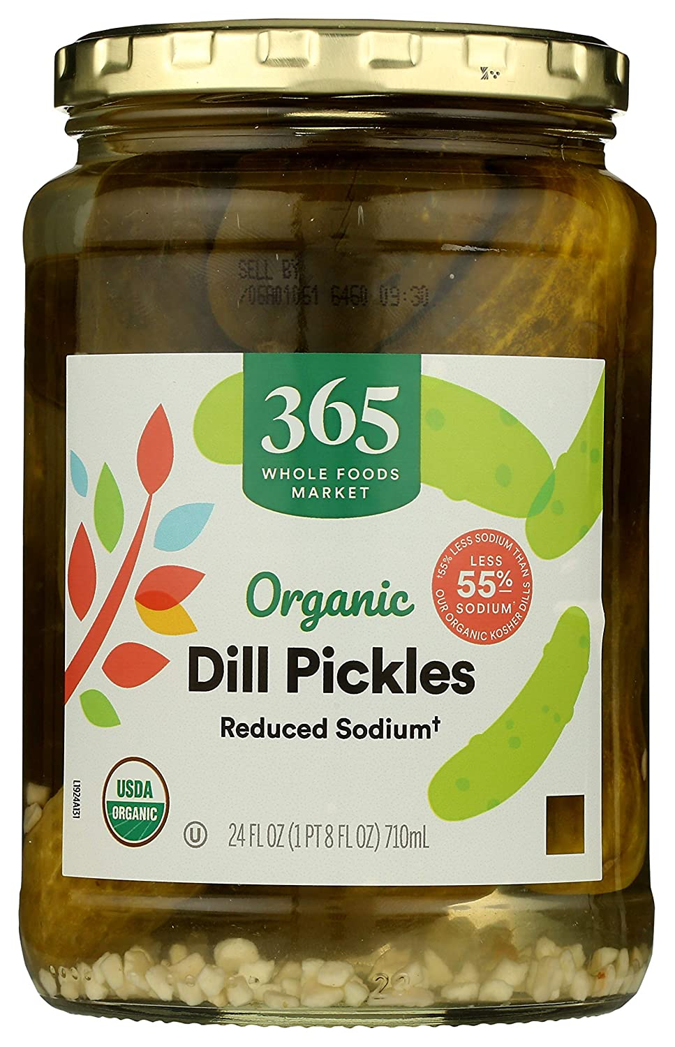 365 by Whole Financial sales sale Foods Market Reduced Pickles Sodium Max 78% OFF Dill Organic