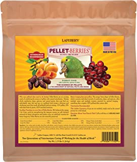 LAFEBER'S Pellet-Berries Pet Bird Food, Made with Non-GMO and Human-Grade Ingredients, for Parrots, 2.75 lbs