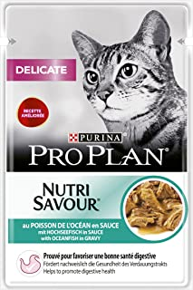 Proplan Wet Cat Food Delicate Cat Grilled In Gravy Ofish, Brown, 85 g, 12248792, Pack of 24