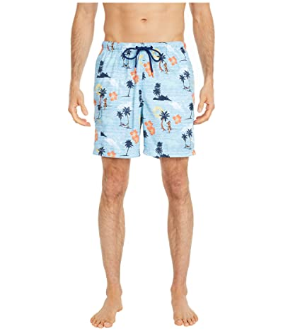 Tommy Bahama Naples Sunset Hula Swim Trunks (Buccaneer Blue) Men