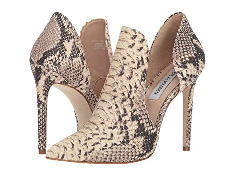 Dolly Leathernatural De en Madden Cuir Snakewhite ligne Noir Steve Shopping UnxvqwIZ0n