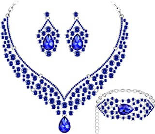 austrian crystal necklace and earring set