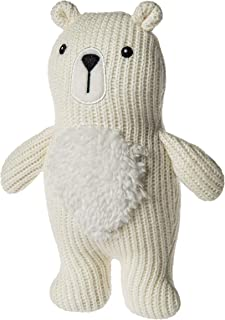 Mary Meyer Knitted Nursery Rattle Soft Toy, 7-Inches, Polar Bear