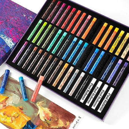 Paul Rubens オイルパステル 48色・51本セット ソフトパステル Oil Pastel パステル 画材 お絵描き セット スケッチ、絵画、油絵、着色用(48色・51本セット)