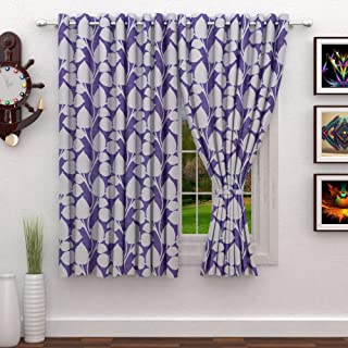 Story at Home 200 GSM Polyester 2 Pieces Window Curtain, White, 118 cm x 152 cm, WNR4036