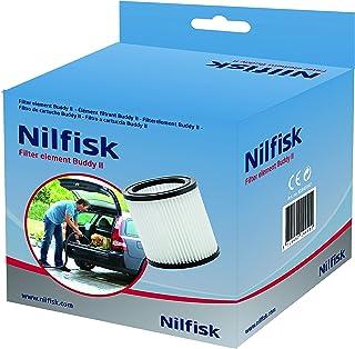 Nilfisk Filtro para Aspirador de Bricolaje Buddy II, Blanco