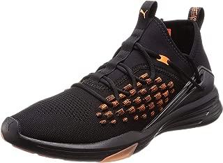 PUMA Men's Mantra Fusefit Unrest Blk-fire Shoes, Black-Firecracker