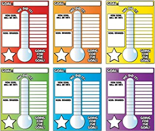 Fun Express Vertical Goal Thermometer Poster (6 pc) - Educational Classroom Decorations