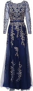 فستان رسمي مطرز بأكمام طويلة للنساء من Meier