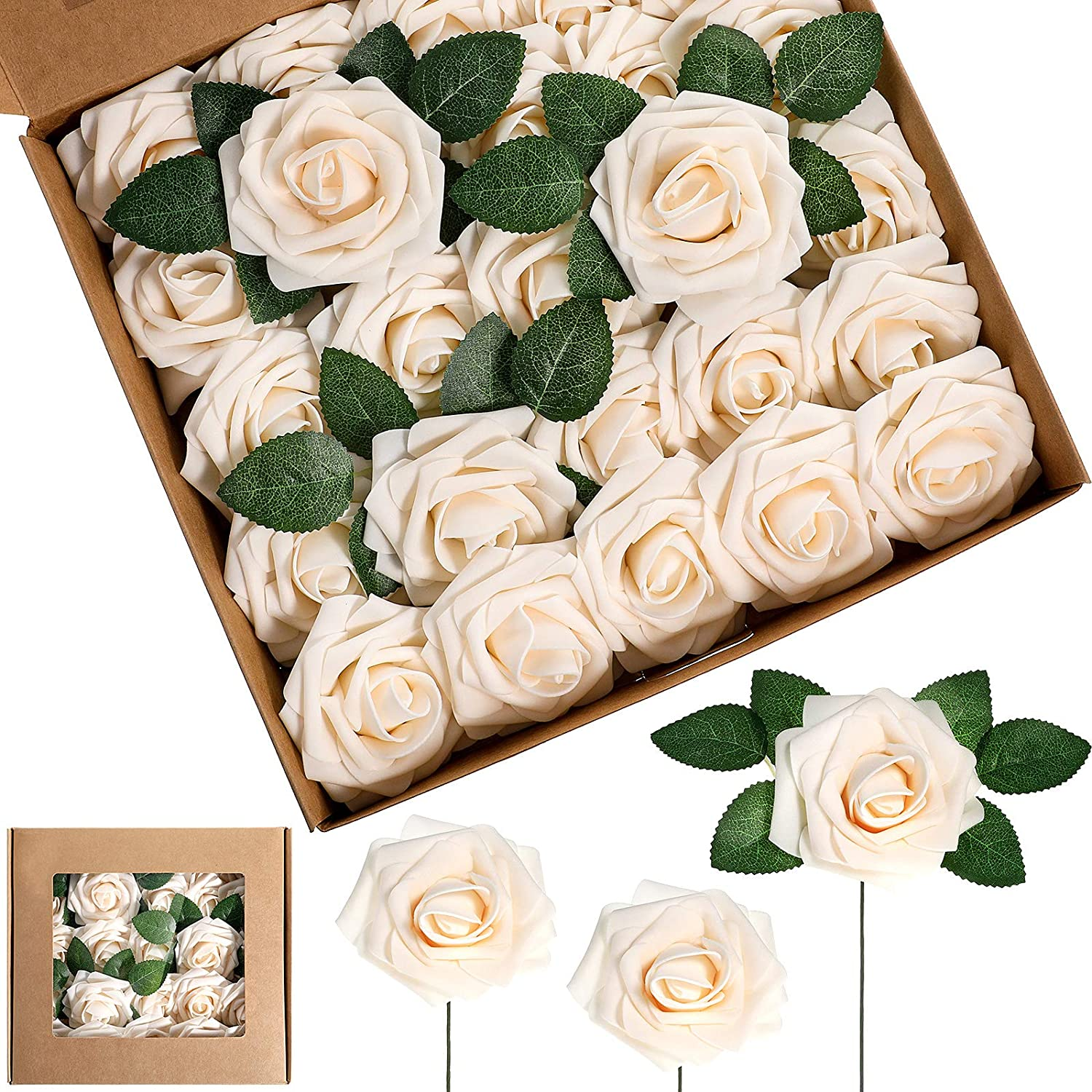 Artificial Foam Rose Deluxe Flowers Vintage Roses Bou Bouquets At the price of surprise DIY Fake